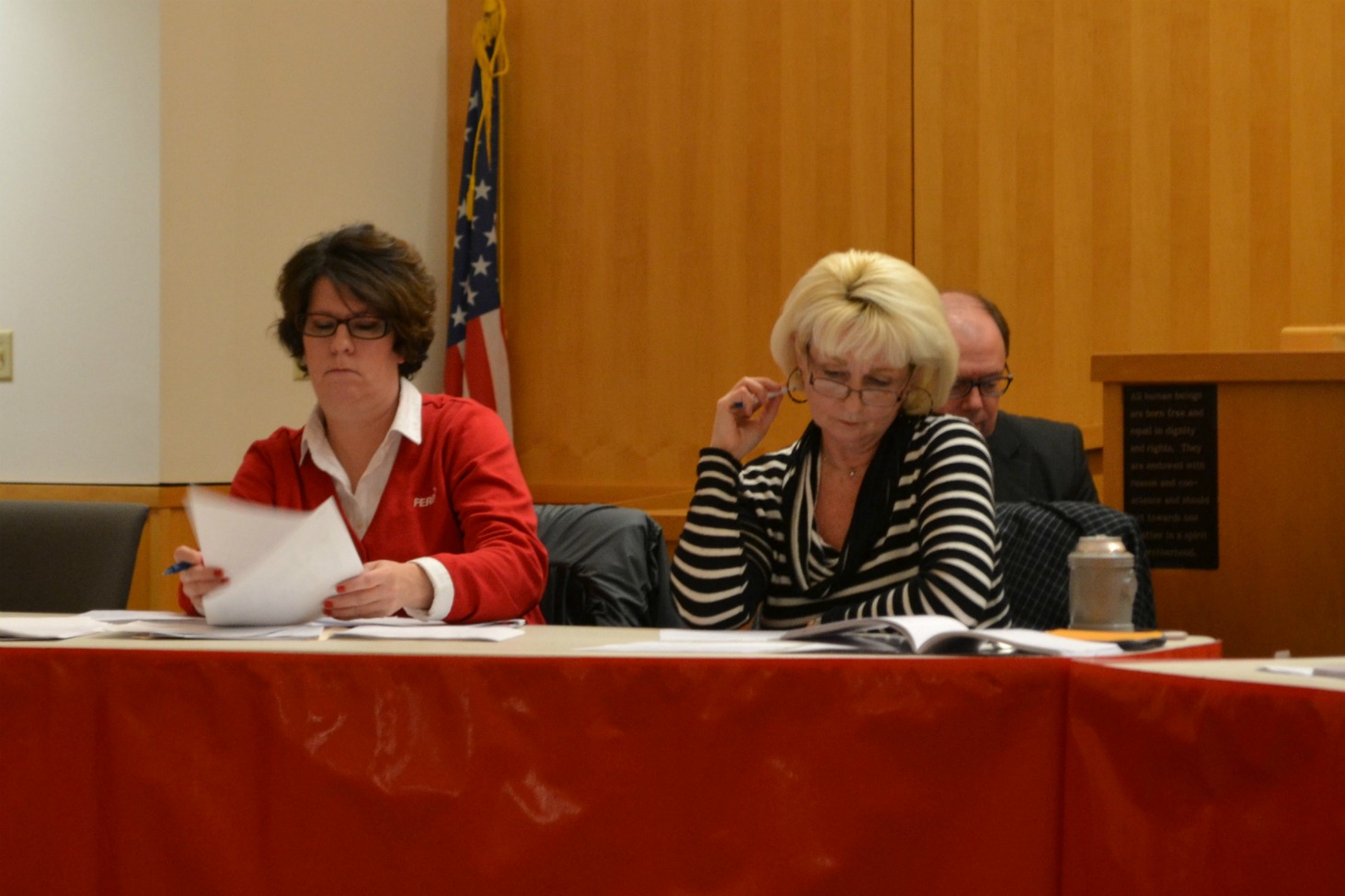 Pictured are council members Tracy Aranyos, left, and Ann Morris. (HCP Photo/Caitlin Forsha)