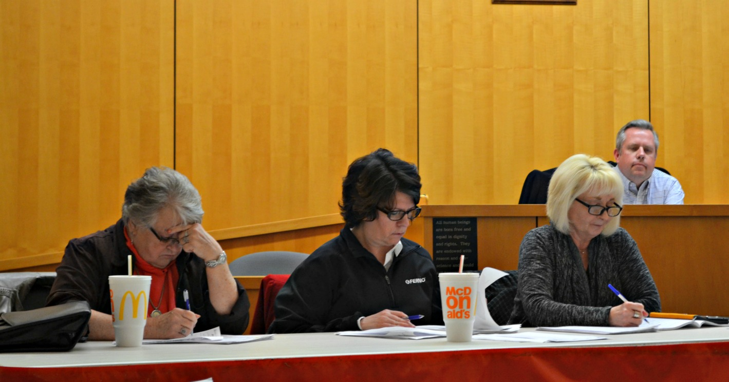 Pictured (l-r) are council members Claudia Klein, Tracy Aranyos, Ann Morris and Lee Koogler. (HCP Photo/Caitlin Forsha)