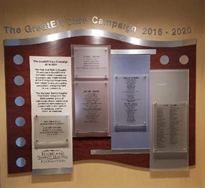 HDH donor wall unveiled