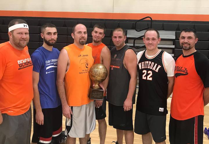 Kevin Shannon (Class of 2000), Ben Barnett (Class of 2010), Allen Crabtree (Class of 2002), Jared Bohl (Class of 2005), Travis Mootz (Class of 2002), Justin Michael (Class of 2002) and Ryan Barnett (Class of 2001). (Submitted photo)