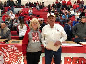 Longtime HHS scorekeeper Galen Neal honored