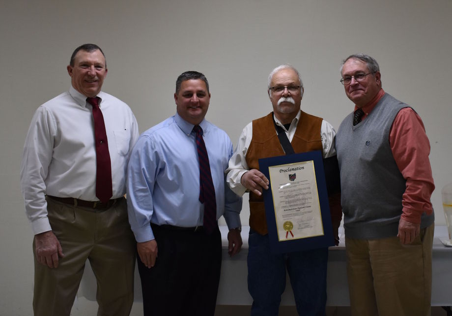 Retiring Highland County EMA director Jim Lyle honored