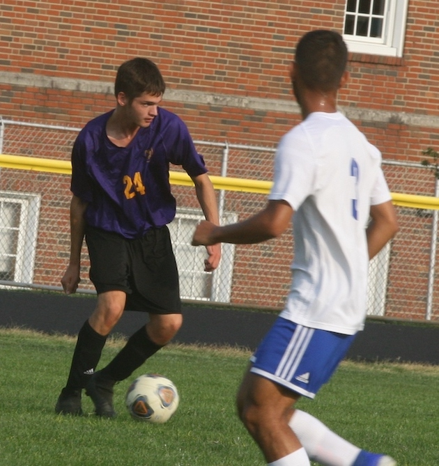 McClain junior Francesco Branchini (No. 24) scored a goal in the 3-1 victory over Chillicothe. (Photo by Jim Jones)